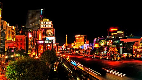 The Las Vegas Strip At Night